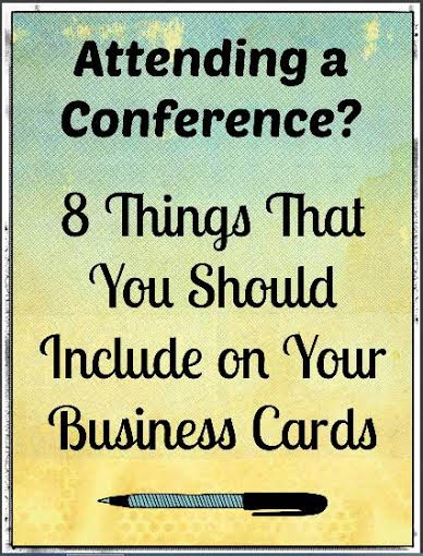 8 Things That You Should Include on Your Business Cards