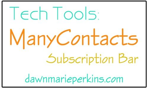Tech Tools: ManyContacts Subscription Bar for easy blog sign-ups